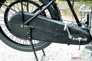 Sunbeam rear wheel and mudguard