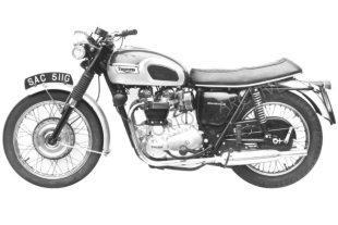 Triumph Bonneville classic motorcycle