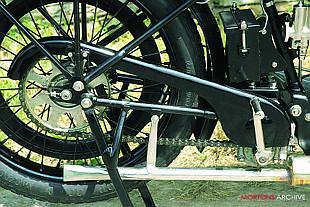 1923 Triumph SD rear wheel image