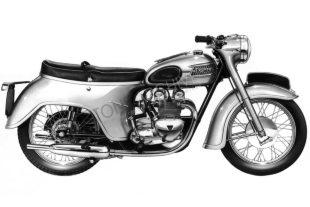 Triumph Twnety-one (21) classic motorcycle 'bathtub'