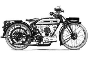 Triumph Type P classic motorcycle