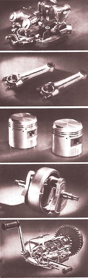 Triumph Thunderbird engine components