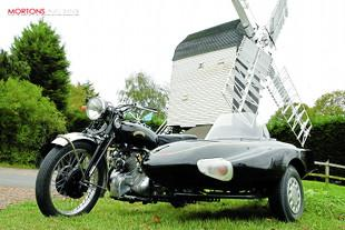 Vincent Comet and LE sidecar