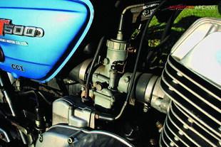 Suzuki GT500 two stroke twin motorcycle