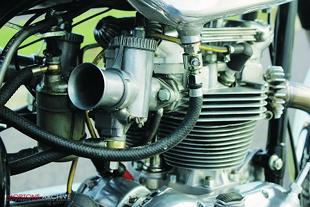 Tribsa classic British motorcycle engine