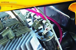 Motobecane classic motorcycle engine close up