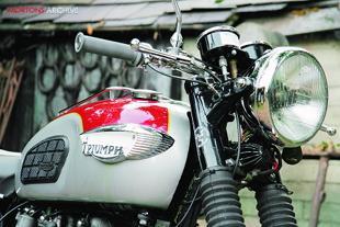 Triumpmh T120 Bonneville classic British motorcycle