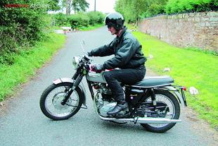 Triumph T120 Bonneville classic British motorcycle