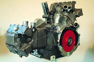 Moto Guzzi classic motorcycle engine