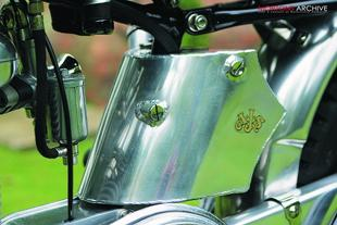 AJS classic trial bike restoration