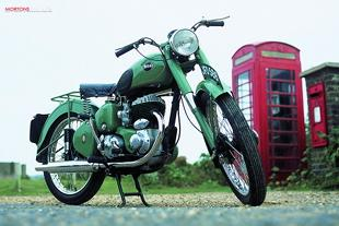 BSA C10 classic British motorcycle