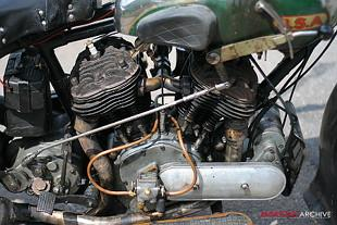 BSA G13/33 classic British sidevalve V-twin motorcycle from BSA