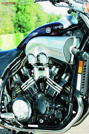 Yamaha V-Max motorcycle engine