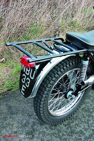 BSA B40 classic single British motorcycle