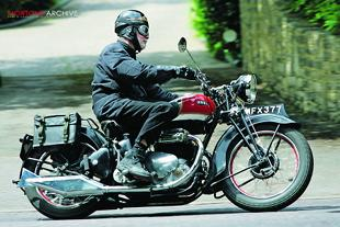 Ariela Square Four classic British motorcycle road test
