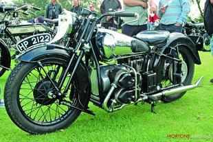 George Brough four cylinder classic motorcycle