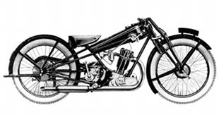 Competition classic Cotton motorcycle racer