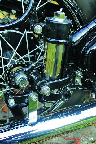 Ariel VB motorcycle rear suspension