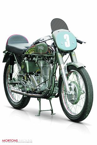 Norton International restored classic racing motorcycle