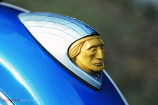Indian Chied mascot, classic American motorcycle