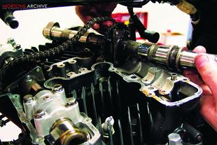 Adjusting motorcycle engine valve clearances