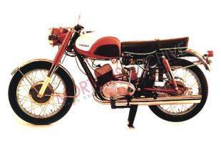 1959 tubular framed Yamaha YDS1 classic motorcycle