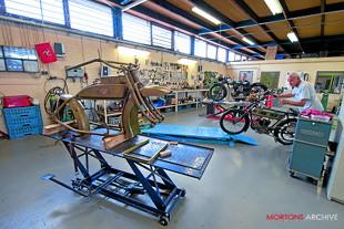 Yesterdays Antique Motorcycles workshop
