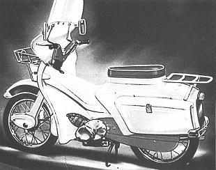 Ariel Pixie classic motorcycle