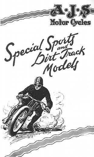 AJS dirt bike advert