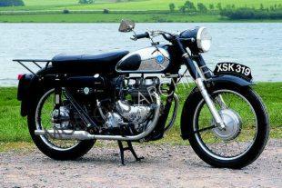 1957 AJS Model 20 classic British motorcycle