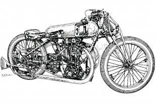 Grindlay-Peerless motorcycle