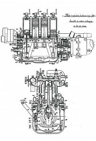 Henderson motorcycle engine artwork