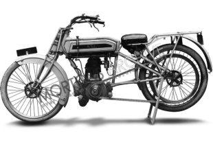 Monoshock suspension was standard fitment on ASL motorcycles in the early 1900's