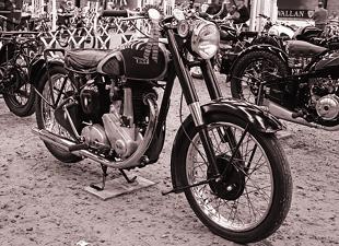 BSA B31 classic British motorcycle
