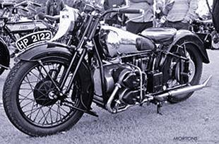 Brough four cylinder motorcycle