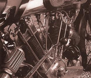 Brough Superior SS100 motorcycle engine