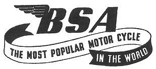 BSA motorcycle logo