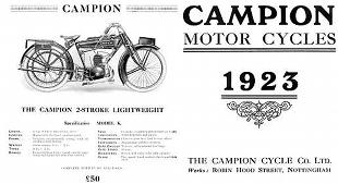 Campion old motorcycle advertisement