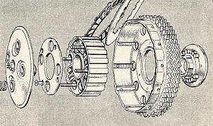 BSA A50 and A65 clutch assembly artwork