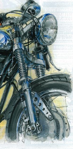 Classic motorcycle illustration