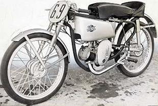 125cc Villiers-powered Dot motorcycle racer from 1951