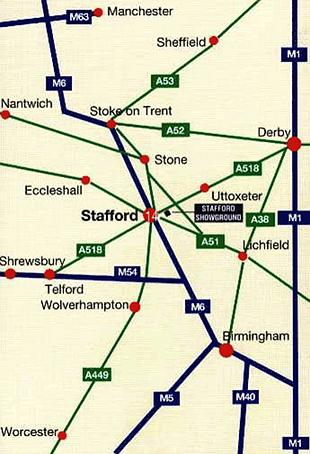 Directions to Stafford show