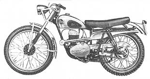 DOT scramber classic motorcycle