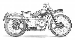 Competition Douglas classic motorcycle