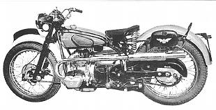 Douglas 350cc flat twin sports motorcycle