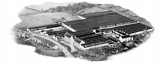 Image of world fampous Royal Enfield motorcycle factory at Redditch