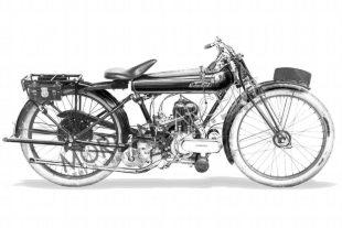 1921 Edmund single classic American-made motorcycle