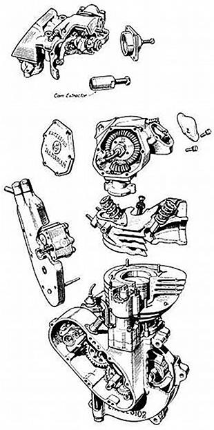 Excelsior motorcycle engine