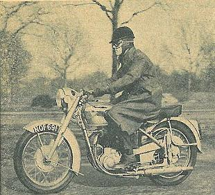 BSA A10 classic British motorcycle test