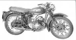 Greeves model 32D Fleetmaster classic motorcycle
